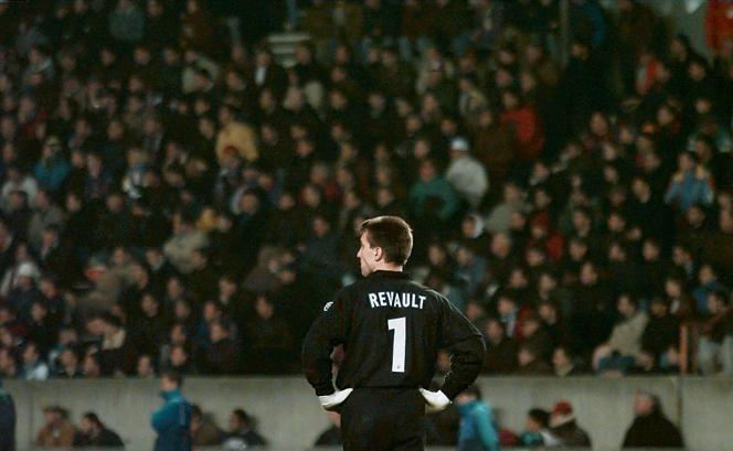 Christophe Revault au Parc des Princes, en décembre 1997, il était alors gardien du Paris-Saint-Germain.