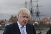 Le premier ministre britannique, Boris Johnson, à Hartlepool, au nord-est de l'Angleterre, le 7 mai 2021.