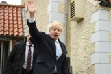 Boris Johnson est venu célébrer la victoire de la candidate conservatrice à Hartlepool, vendredi 7 mai.