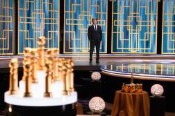 La 78e cérémonie des Golden Globes, présentée par Sean Penn, à Beverly Hills, le 28 février 2021.