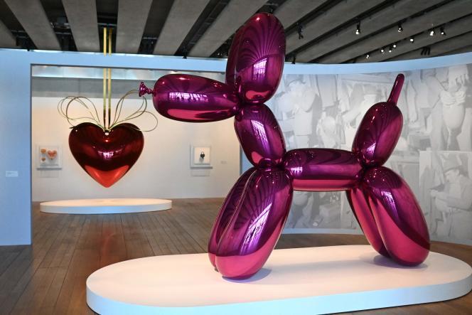 Au sein de l'exposition consacrée à l'œuvre de Jeff Koons, au MuCEM, à Marseille (Bouches-du-Rhône), le 5 mai 2021.