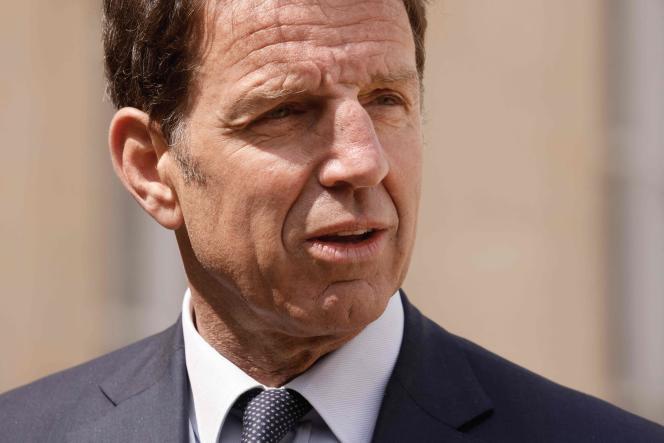 Le président du MEDEF, Geoffroy Roux de Bezieux, à Paris, le 29avril;
