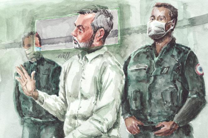 Nordahl Lelandais, interrogé lors de son procès à Chambéry, le 7 mai.