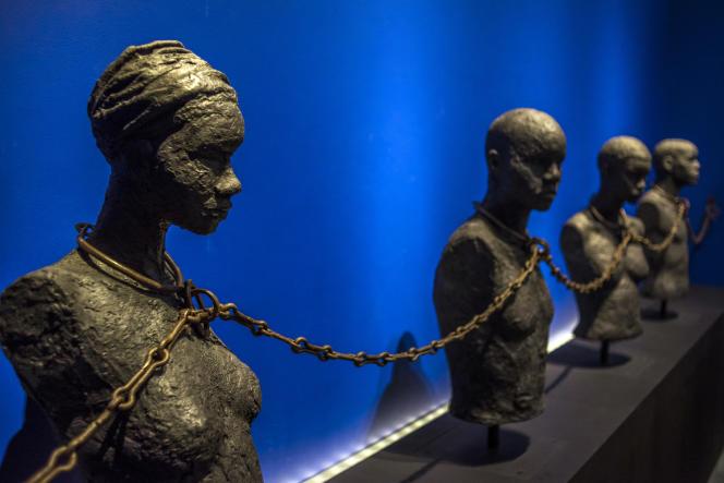 Au Mémorial ACTe, ou Centre caribéen d'expressions et de mémoire de la traite et de l'esclavage, à Pointe-à-Pitre, en Guadeloupe, en2015.