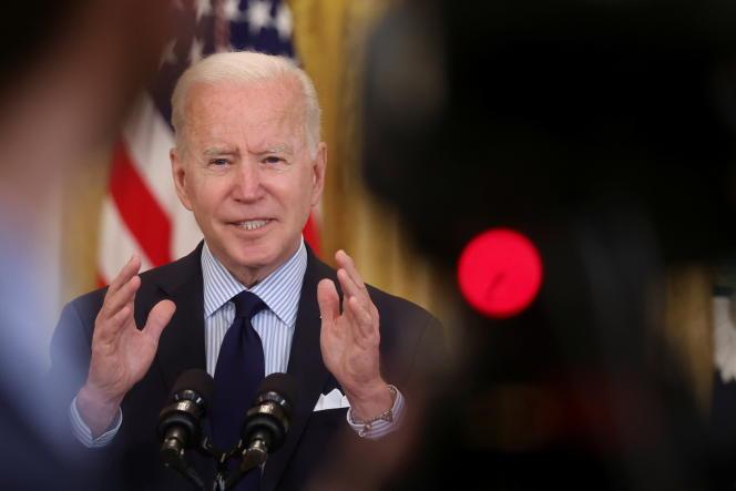 Le président américain, Joe Biden, à la Maison Blanche, le 7 mai 2021.