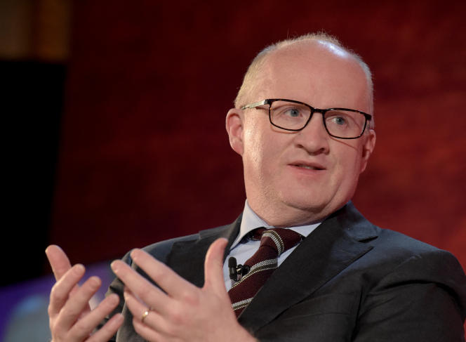L'Irlandais Philip Lane, économiste en chef de la Banque centrale européenne (BCE), lors d'une conférence à l'occasion du Fortune Global Forum, à Paris, le 18 novembre 2019.