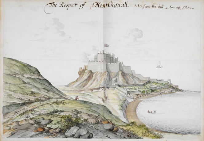 Pour défendre l'île de ses ennemis français, le château de Mont Orgueil est érigé à la demande de Jean Sans-Terre, alors roi d'Angleterre.