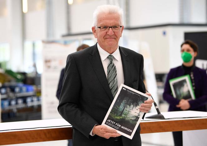 Winfried Kretschmann, ministre-président écologiste duBade-Wurtemberg, le 5 mai àStuttgart.