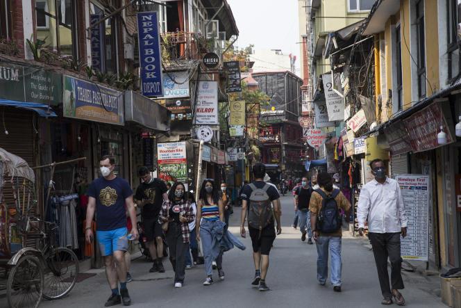 A Katmandou (Népal), le 27 avril 2021.