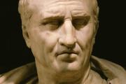 Buste antique de Cicéron, au musée Capitolin (Rome).