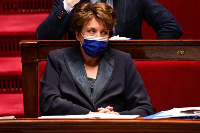 Roselyne Bachelot, ministre de la Culture, à l'Assemblée nationale, mardi11 mai.