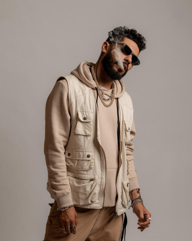 Le rappeur ElGrande Toto, en février, à Casablanca (Maroc).
