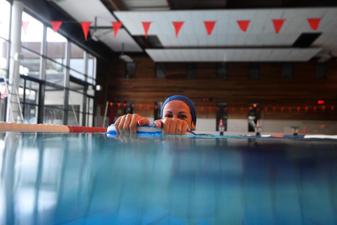 A la piscine municipale de « La Conterie» à Chartres-de-Bretagne près de Rennes, le 4 juin 2020.