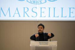 Le maire socialiste Benoît Payan lors d'une conférence de presse à Marseille, le 7 janvier 2021.