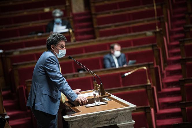 Le député Liberté et territoires Paul Molac, le 10 mai 2021 à la tribune de l'Assemblée nationale.