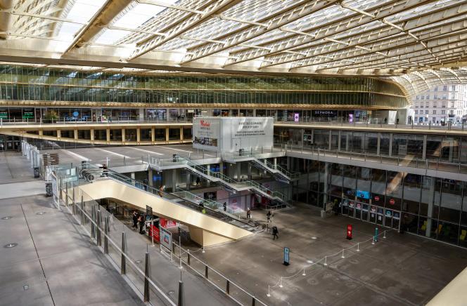 Le Forum des Halles, à Paris, le 20 mars 2021.