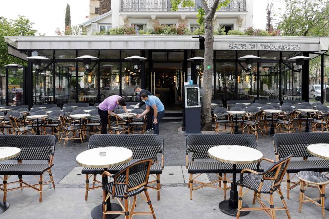 La terrasse du « Café du Trocadéro », à Paris, le 11 mai 2021.