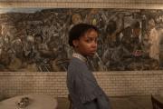 L'actrice sud-africaine Thuso Mbedu interprète Cora, dans la série«Underground Railroad», de Barry Jenkins.