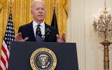 FILE PHOTO: U.S. President Joe Biden delivers remarks on the U.S. economy in the East Room at the White House in Washington, U.S., May 10, 2021. REUTERS/Kevin Lamarque/File Photo