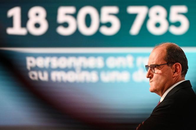 Le premier ministre Jean Castex avant de participer au « 20 heures» de France 2, à Paris, le 11 mai.
