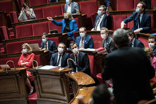 Délibération sur le projet de loi «gestion de sortie de crise sanitaire» à l'Assemblée nationale à Paris, le 11 mai 2021.