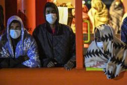 Arrivée de migrants à Lampedusa, en Italie, le 11 mai.