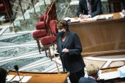 Roselyne Bachelot lors de la séance des questions au gouvernement, à l'Assemblée nationale, à Paris, le 11 mai 2021.