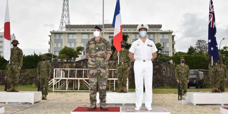 Les forces françaises, japonaises et américaines simulent la reprise d'une île dans le Pacifique