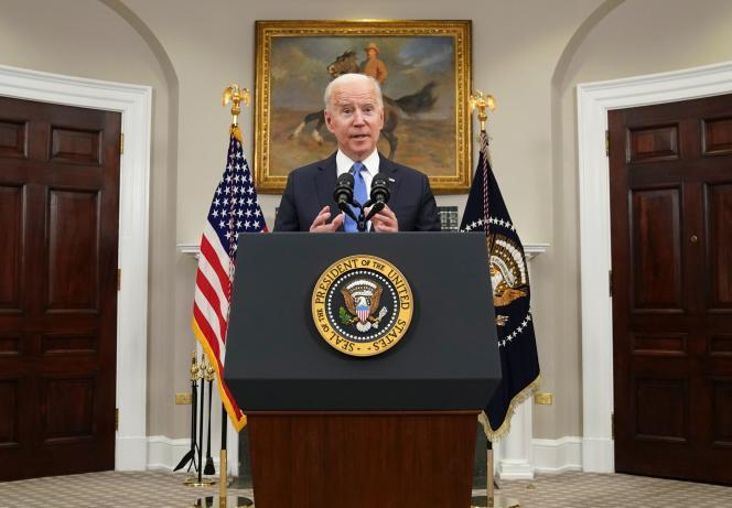 «Je suis convaincu d'avoir lu le rapport du FBI correctement, et ils disent [que le gouvernement russe] n'était pas impliqué», a déclaré Joe Biden, jeudi 13 mai 2021.