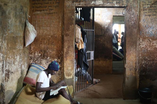 Dans la prison centrale de Freetown, le 7mai 2021.