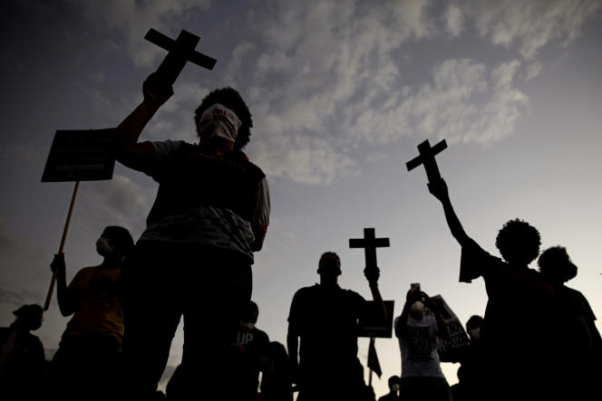 Lors de la journée de commémoration de l'abolition de l'esclavage au Brésil, à Rio de Janeiro, le 13mai 2021.
