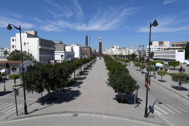 L'avenue Habib-Bourguiba, au centre de Tunis, le 9 mai 2021.