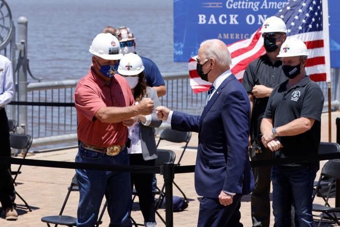 Le président des Etats-Unis, Joe Biden, à Lake Charles (Louisiane), le 6 mai 2021.