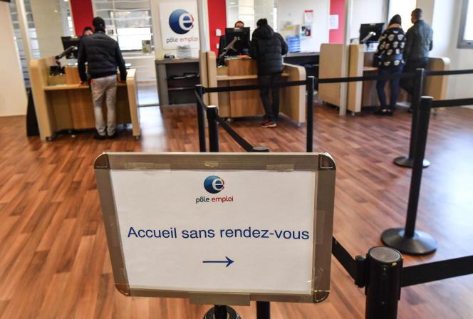 L'agence Pole emploi de Montpellier (Hérault), le 3 janvier 2009.