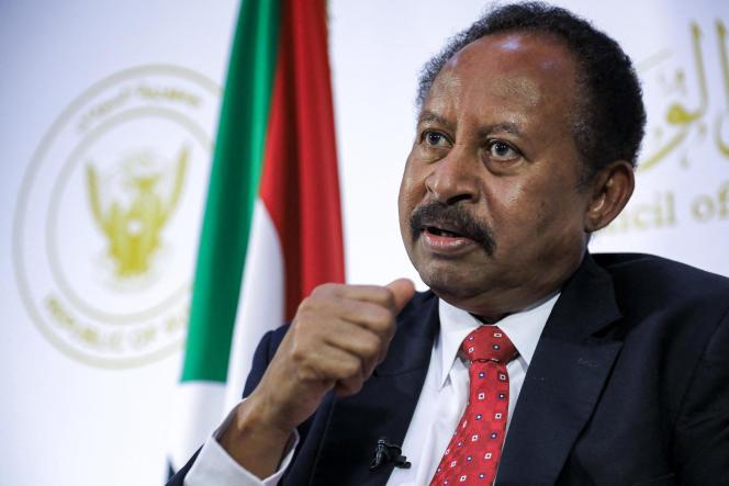 Sudanese Prime Minister Abdallah Hamdok in Khartoum on May 11, 2021.