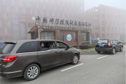 Visite d'experts de l'Organisation mondiale de la santé à l'Institut de virologie de Wuhan, en Chine, le 3 février 2021.