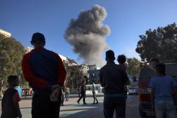 Un bâtiment détruit par une frappe aérienne israélienne dans la ville de Gaza, le 14 mai 2021.