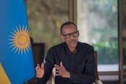 Le président rwandais Paul Kagame lors d'une interview à Kigali, le 6 septembre 2020.
