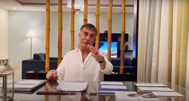 Extrait d'une vidéo du chef mafieux Sedat Peker sur YouTube, le 16 mai.