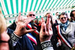Marine Le Pen à Berlancourt dans les Hauts de France, le 15 mai 2021.