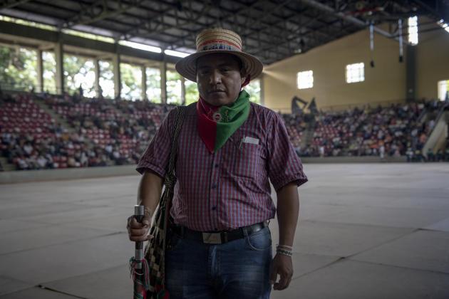 Ermes Pete Vivas, 11 de mayo de 2021, Asesor Superior del Consejo Regional Indígena de Gaga (CRIC).