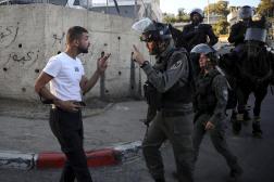 Une manifestation dans le quartier de Cheikh Jarrah, à Jérusalem-Est, le 15 mai 2021.