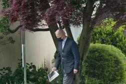 Le président américain, Joe Biden, à la sortie de la messe, dimanche 16 mai 2021, à Wilmington, dans le Delaware.