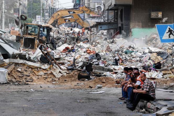 Dans la ville de Gaza, le 16 mai/