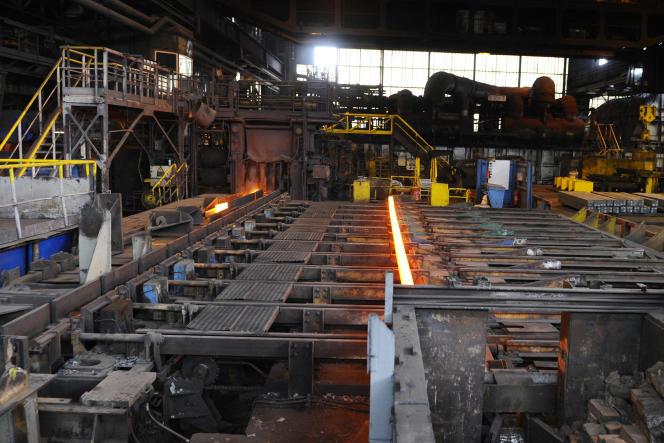 Un site de sidérurgie à Hagondange (Moselle) en 2014.