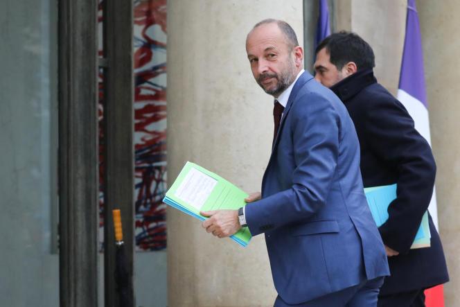 Thierry Beaudet, alors président de la Mutualité française, au palais de l'Elysée, en décembre 2018.