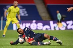 Kylian Mbappé lors du match de Ligue 1 Paris-Saint-Germain - Stade de Reims au Parc des Princes, à Paris, le 16 mai.