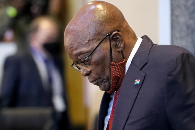 L'ancien président sud-africain, Jacob Zuma, à Johannesburg, en novembre 2020.