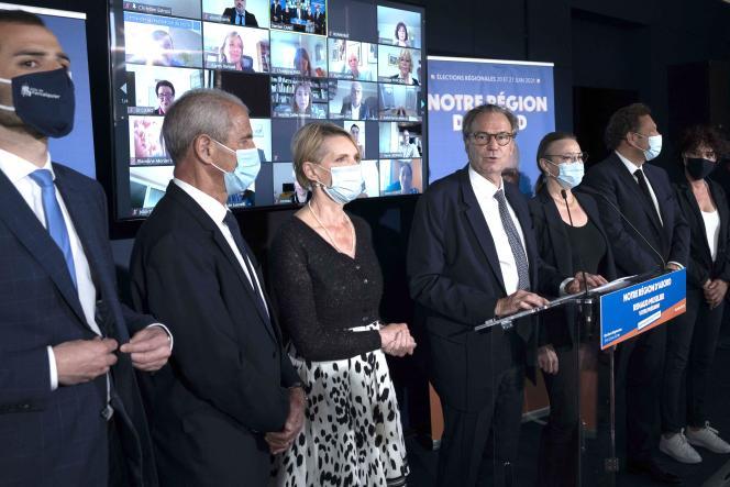 Renaud Muselier, candidat Les Républicains pour les élections régionales en Provence-Alpes-Côte d'Azur, à Marseille (Bouches-du-Rhône), le 14 mai.