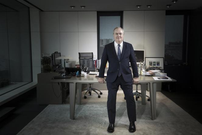 Denis Kessler, PDG de Scor, à Paris, le 9 janvier 2018.
